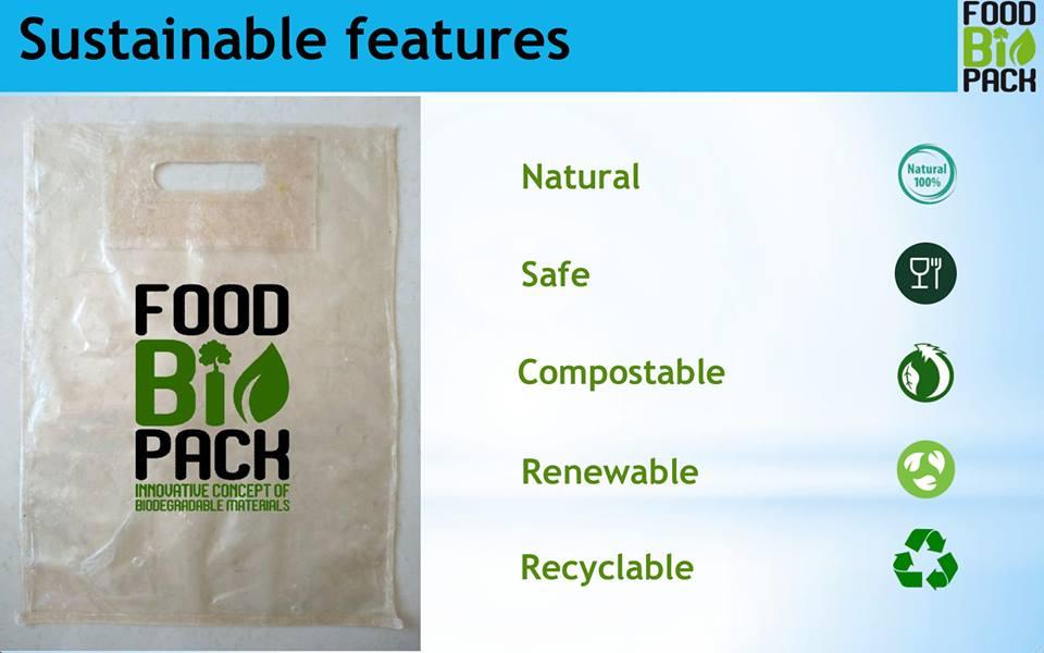 Еко-пакети Foodbiopack з біорозкладувальних матеріалів