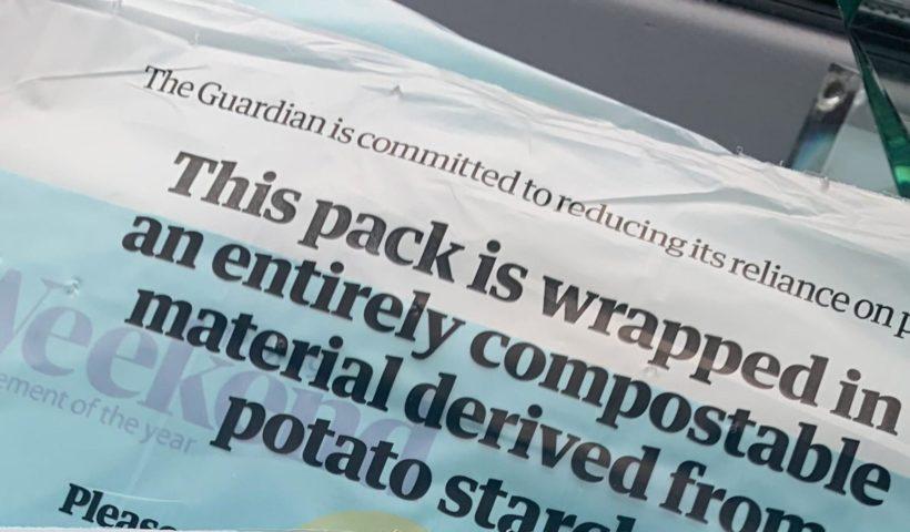 Упаковка The Guardian з картопляного крохмалю