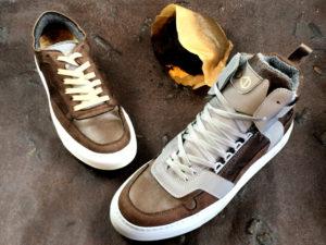 Обувь из кофейной гущи
