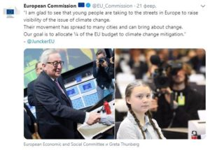 Грета Тунбер добилась выделения бюджета ЕС на борьбу с климатическими изменениями