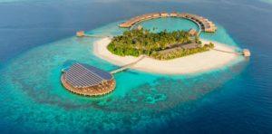 Автономный морской курорт на солнечных батареях Kudadoo на Мальдивах
