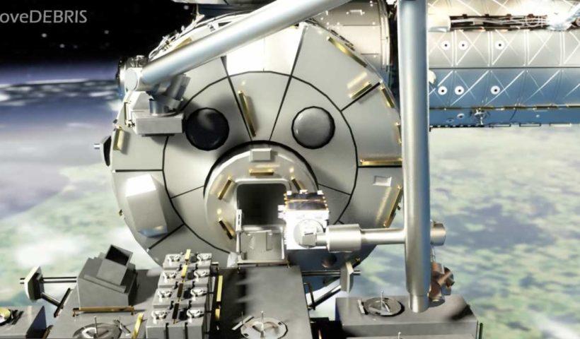 космический корабль за сбору мусора на орбите - гарпун Airbus Stevenage