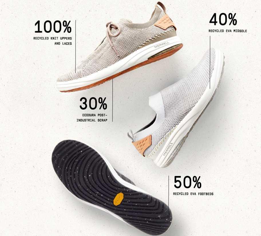 Обувь Merrell из переработанных материалов