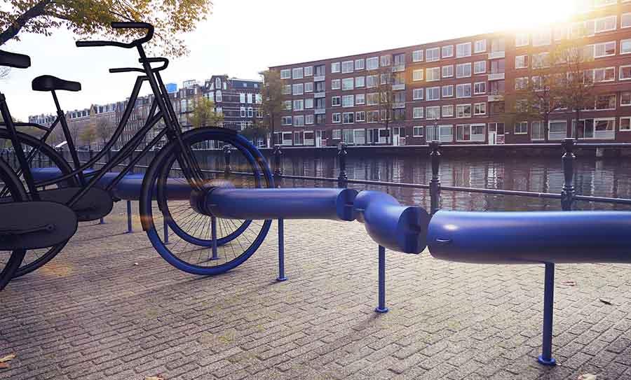 Велосипеды в Амстердаме, которые могут генерировать электрику для нужд города