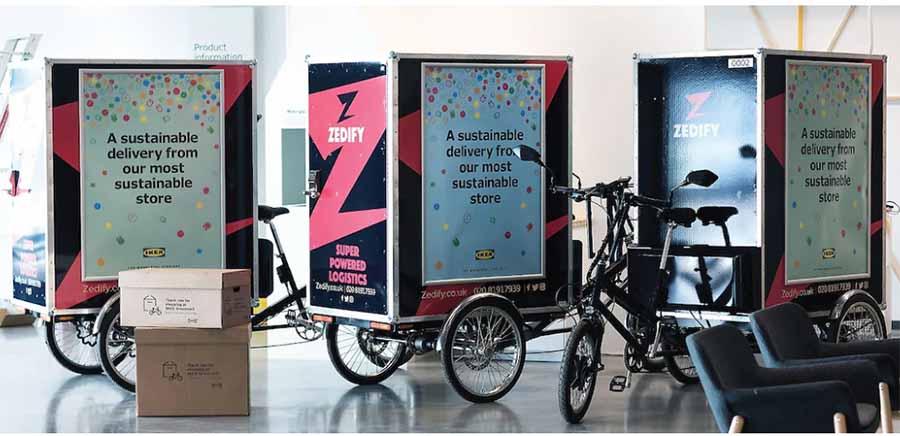 Велосипедная курьерская служба из IKEA
