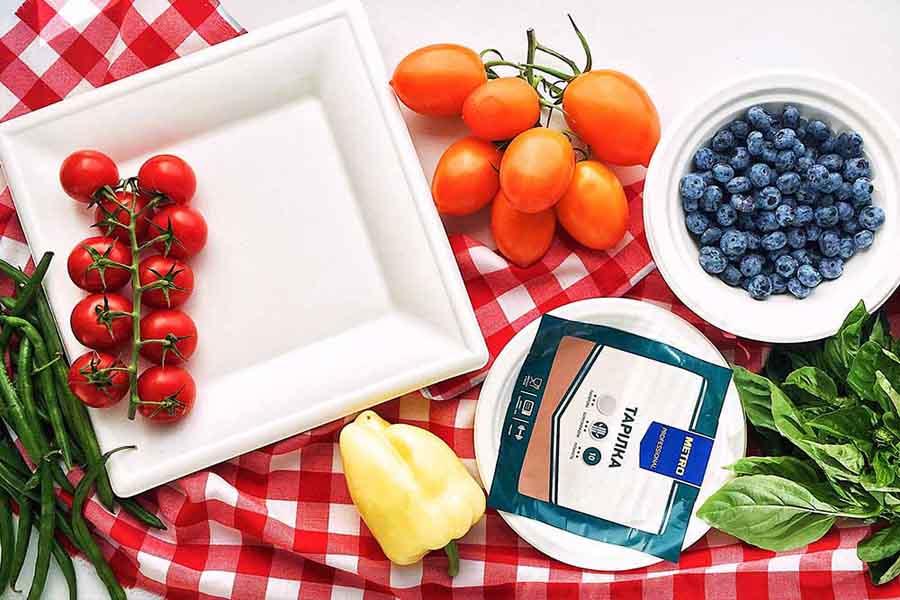Биоразлагаемая посуда МЕТРО