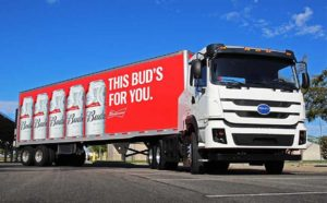 пивной фургон Budweiser