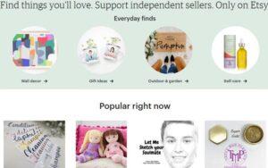 Etsy online marketplace